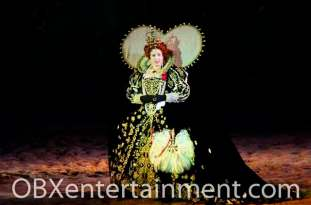 Diana Cameron McQueen as Queen Elizabeth I in 'The Lost Colony', May 30, 2013. (photo by OBX Entertainment)