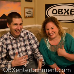 Stuart Chamberlain and Sue Artz on the set of OBX Entertainment's Outer Banks web series 'OBXE TV' on March 17, 2014. (photo: OBX Entertainment)