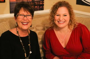 Tanya Young and Sue Artz on the set of OBX Entertainment's original Outer Banks web series 'OBXE TV' on March 12, 2014.