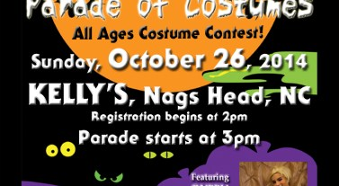 OBXentertainment.com presents the Outer Banks Halloween Parade of Costumes on October 26, 2014 at Kelly's in Nags Head, NC!