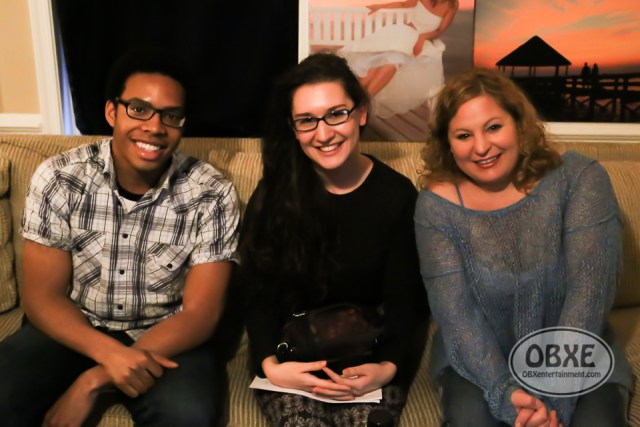 Sue Artz with Victoria Duncan and Sheldon Walker on the set of the OBX Entertainment series 'OBXE TV' on March 15, 2016. (photo by Matt Artz for OBXentertainment.com)