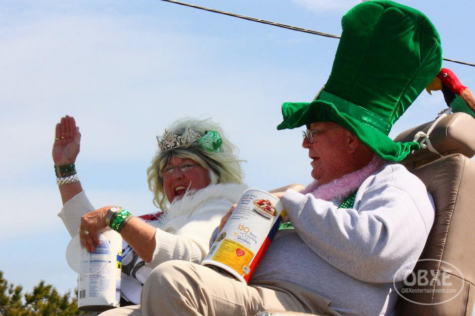 Ernie and Marie Bridgers at the 2012 Kelly's St. Patrick's Parade. (photo by OBX Entertainment)