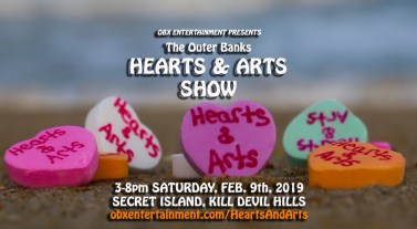 Outer Banks Hearts & Arts Show - Feb. 9, 2019 at Secret Island in Kill Devil Hills