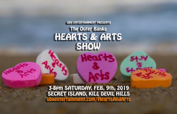 Outer Banks Hearts & Arts Show - Feb. 9, 2019 at Secret Island in Kill Devil Hills