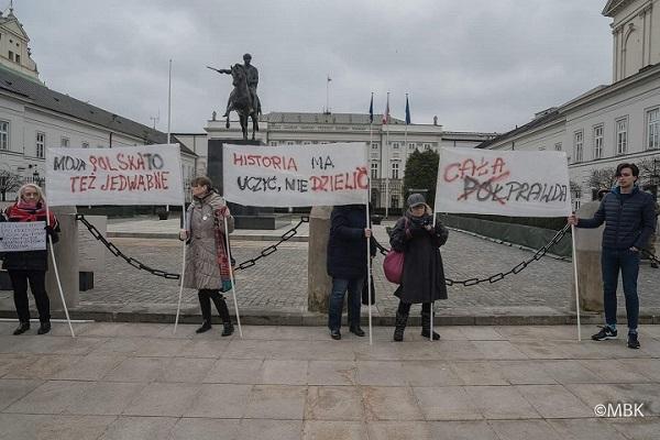 Protest przeciwko nowelizacji ustawy oIPN, Warszawa
