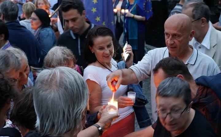 Europo, nie odpuszczaj. Manifestacja w Warszawie, 18.06.2018