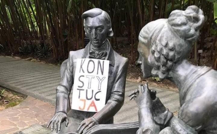 Pomnik Chopina w Singapore Botanic Gardens