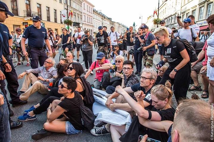 Obywatele RP nadrodze VII Marszu Powstania Warszawskiego