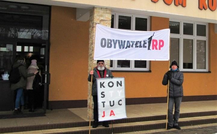 Pikieta przed domem kultury w Hrubieszowie