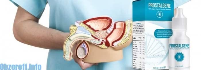 ผลิตภัณฑ์ชนิดแคปซูล Prostalgene สำหรับรักษาโรคต่อมลูกหมากอักเสบ