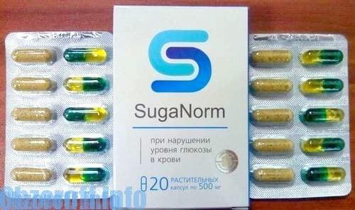 Capsule SugaNorm per il trattamento del diabete mellito