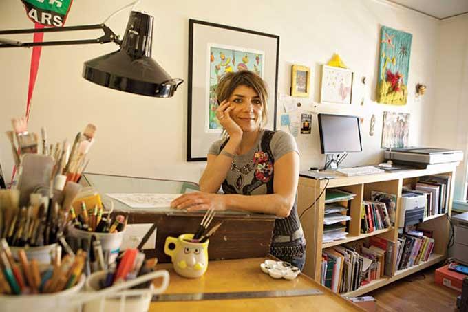 Marbles Cartoonist Ellen Forney in her Capitol Hill studio. PHOTO CREDIT: Hayley Young via Seattle Magazine