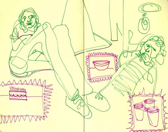 A drawing from my 2008 sketchbook