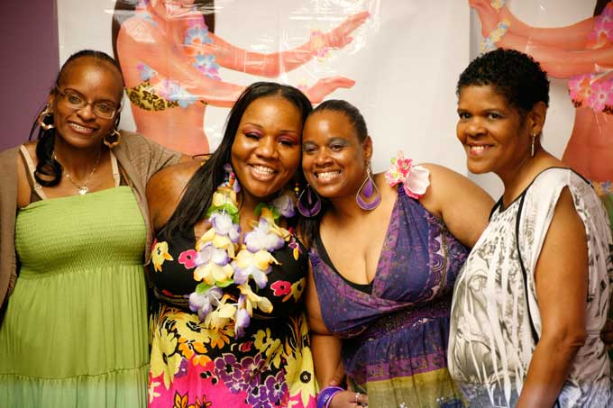 """From Hollywood Beauty Salon (L to R): Darlene, Rachel """"Hollywood"""" Carr, Crystal, Butterfly - inner child"""