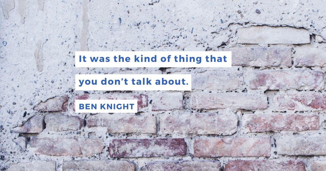 anxiety mental illness Ben Knight