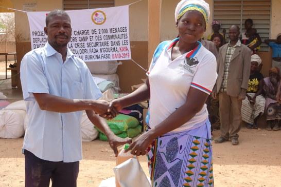 ASSISTANCE HUMANITAIRE AU BURKINA FASO : L'OCADES CARITAS BURKINA VIENT  EN AIDE AUX PERSONNES DEPLACEES INTERNES DE LA COMMUNE DE PISSILA DANS LA PROVINCE DU SANMATENGA.