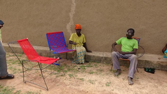 Tima Blandine et son mari Gondoroboué Jean-Baptiste, couple d'aveugles