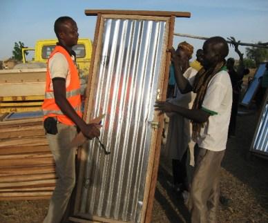 remise du matériel aux éleveurs de Gasdonka