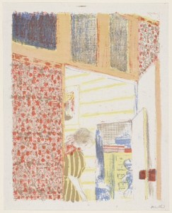 EDOUARD VUILLARD (1868-1940)  'INTERIOR WITH PINK WALLPAPER III (INTÉRIEUR AUX TENTURES ROSES III)' FROM LANDSCAPES AND INTERIORS (PAYSAGES ET INTÉRIEURS), 1899