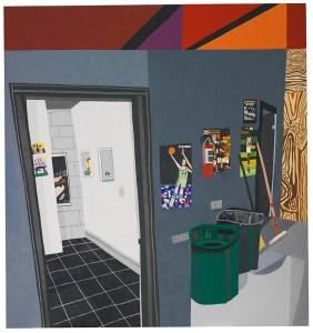 JONAS WOOD (B. 1977)  'STUDIO HALLWAY,' 2010