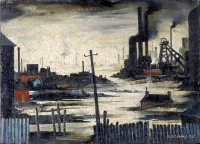 L.S.Lowry 'River Scene'  (Industrial Landscape) , 1935