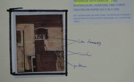 Richard Diebenkorn - 'Interior with mirror', 1966