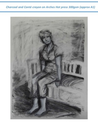 Stefan513593 - context drawing in charcoal and Conté crayon