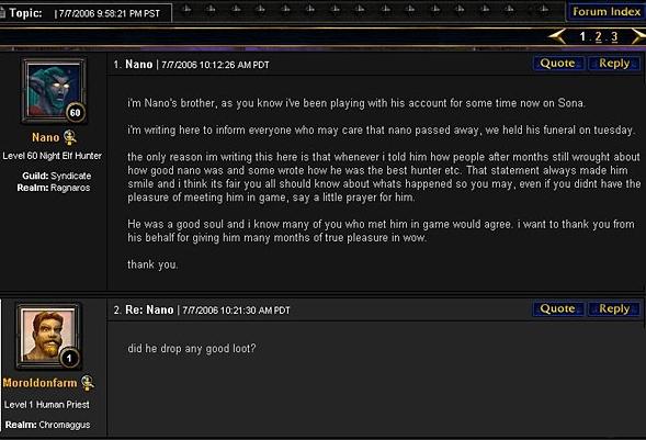 World of Warcraft forum