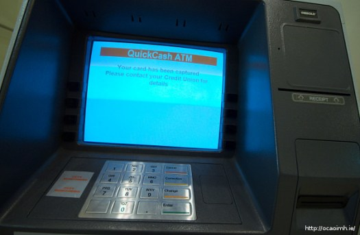 Your card has been captured by the atm