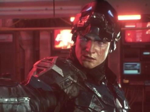 "Marca ""J"" no rosto do Jason Todd em Arkham Knight"