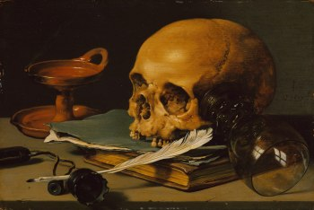 Working Title/Artist: Still Life with a Skull and a Writing Quill Department: European Paintings Culture/Period/Location: HB/TOA Date Code: Working Date: 1628 photography by mma 1979, transparency #3c scanned and retouched by film and media (jn) 8_7_03