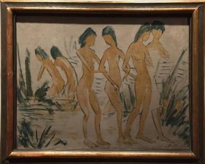 Otto Mueller_Sechs Maedchenakte am Strand_1913sm