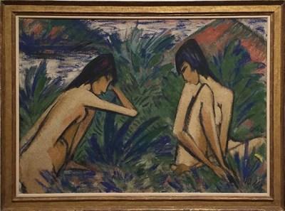Otto Mueller_Zwei Badende Maedchen_1921sm