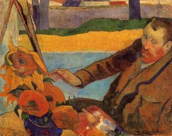 Paul Gauguin_van-gogh-painting-sunflowers_1888