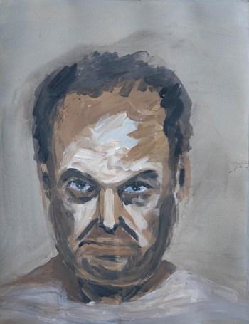 Stefan513593 - daily self-portrait #12: acrylic on paper (40x30cm)