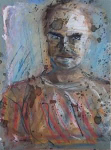 Stefan513593 - daily self-portrait #15: dry pastels on paper (40x30cm)