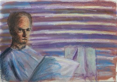 Stefan513593 - daily self-portrait #16: oil pastels on paper (35x51cm)