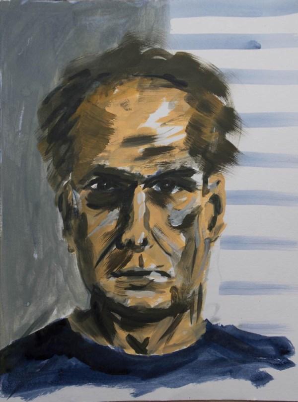 Stefan513593 - daily self-portrait #2: acrylic paint on paper (40x30cm)