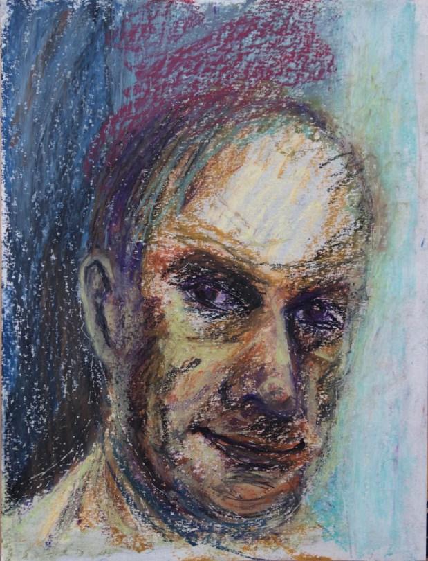Stefan513593 - daily self-portrait #27: Oil pastel on paper (40x30cm)