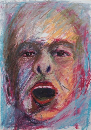 Stefan513593 - daily self-portrait #28: Oil pastel on Bristol paper (42x30cm)