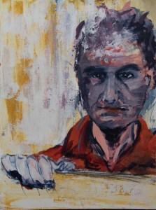 Stefan513593 - daily self-portrait #3: acrylic paint on paper (40x30cm)