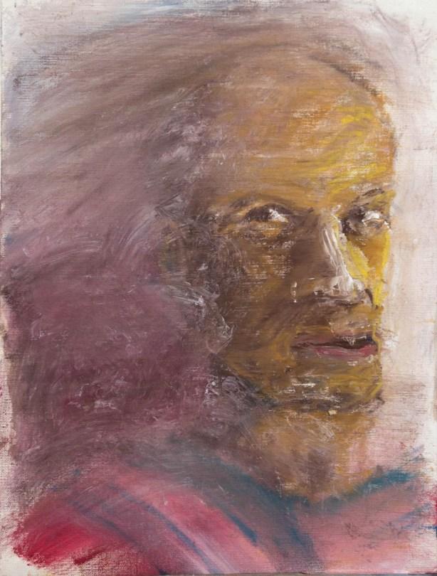 Stefan513593 - daily self-portrait #29: Oil sticks on oil paper (48x36cm)