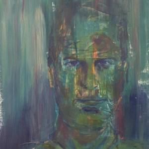 Stefan513593 - daily self-portrait #30: Acrylic on acrylic paper (48x36cm)