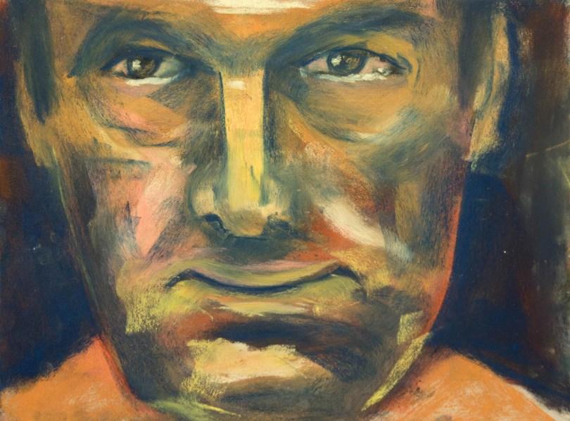 Stefan513593 - daily self-portrait #47: Pastel on PastelCard (40x30cm)