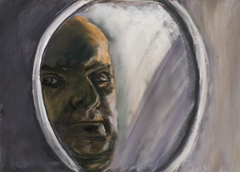 Stefan513593 - daily self-portrait #49: Pastel on PastelMat (50x35cm)