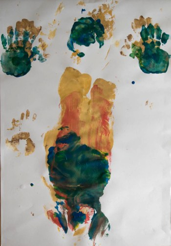 Stefan513593 - daily self-portrait #52: Gouache on paper (100x70cm)
