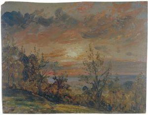 John Constable 'Sketch at Hampstead: Evening', 1820