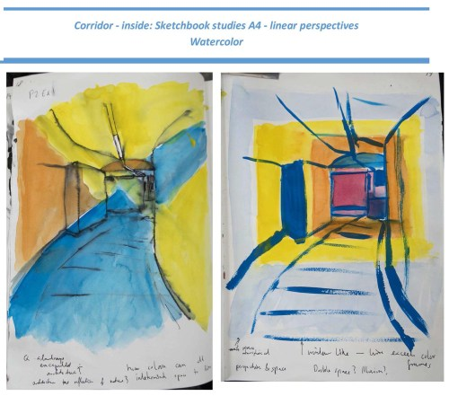 Stefan513593 - Project 2 - Exercise 1 - Linear Perspective - Sketchbook 1