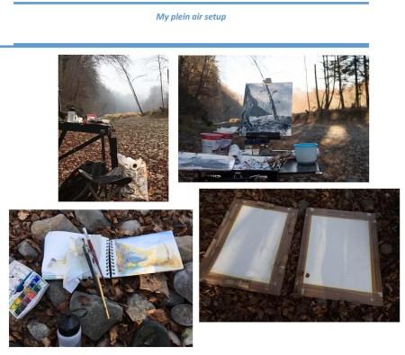 Stefan513593 - Project 4 - Outdoor painting - plain air setup