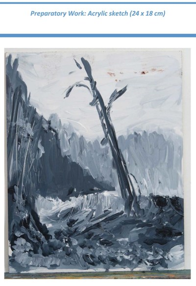 Stefan513593 - Project 4 - Outdoor painting - tonal study in acrylic